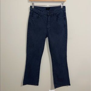 Mother Black So Far Gone Insider Crop Jeans| 28